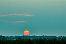 Surreal Hazy Sunset