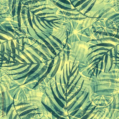 akwarela-streszczenie-bezszwowe-tlo-wzor-miejscu-plusk-farby-zmaza-kolor-zielone-liscie-drzewa-palmy-streszczenie-owocow