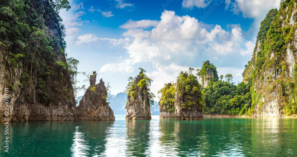 Fototapeta Cheow Lan lake in Thailand