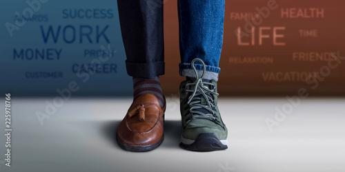Fotografia, Obraz Work Life Balance Concept