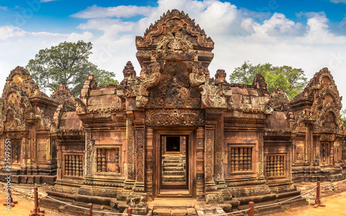 Banteay Srei temple in Angkor Wat Canvas Print