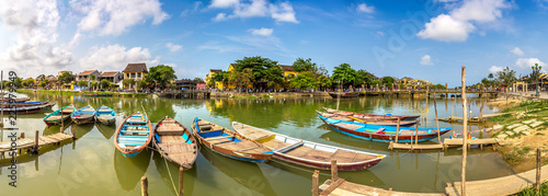 Traditional boats in Hoi An, Vietnam
