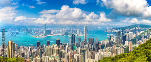 Foto op Plexiglas Aziatische Plekken Panoramic view of Hong Kong