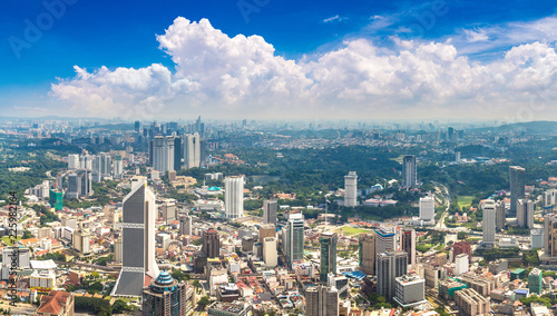 Panoramic view of Kuala Lumpur Canvas Print