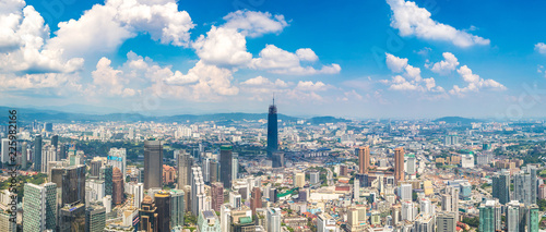 Türaufkleber Kuala Lumpur Panoramic view of Kuala Lumpur