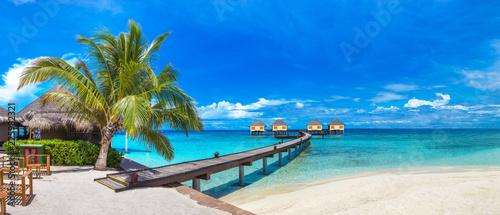 Fototapeta Water Villas (Bungalows) in the Maldives obraz