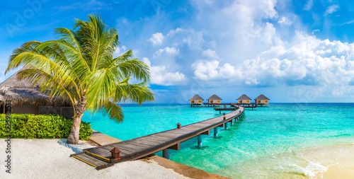 Obraz Water Villas (Bungalows) in the Maldives - fototapety do salonu