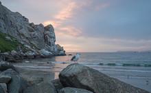 Seagull At Sunset At Morro Roc...