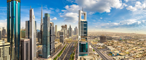 Recess Fitting Middle East Aerial view of downtown Dubai
