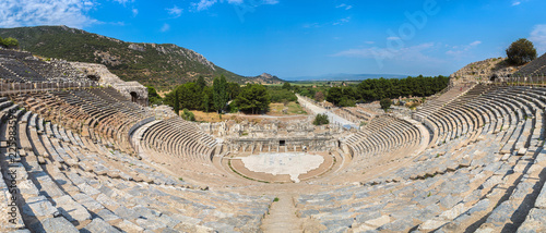Photo  Amphitheater (Coliseum) in Ephesus