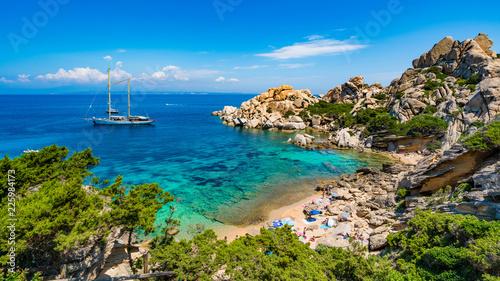 Photo  Wild beach Cala Spinosa of  Capo Testa, near Santa Teresa di Gallura village, Sa