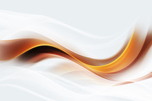 Brown And Gold Modern Waves. White Background. Abstract Creative Graphic. Decorative Concept For Your Project.