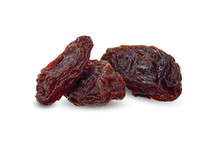 Dried Raisins Isolated On White Clipping Path