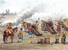 Cannons Bombard The Fortress M...