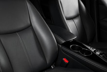Modern Luxury Car Black Leathe...