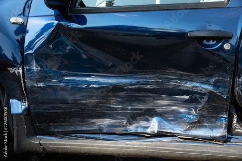 Fototapeta Close-up Of Damaged Car obraz