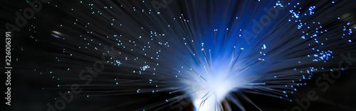 Fotografia, Obraz Lampada multicolore in fibre ottiche