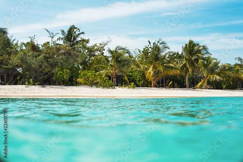 Foto op Plexiglas Oceanië View from ocean to fragment of island