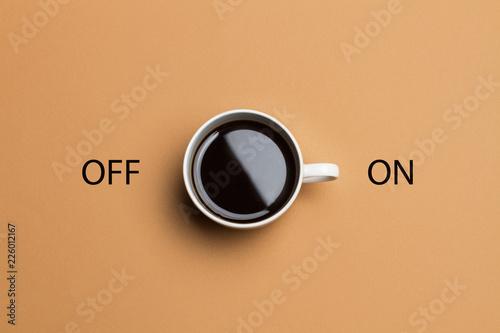 Taza de café vista de arriba