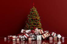 Geschenke Mit Weihnachtsbaum V...