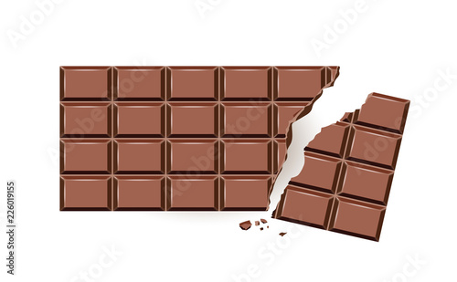 Schokoladentafel abgebrochen,  Tafel Schokolade,  Zartbitter Schokolade, Graf Wallpaper Mural