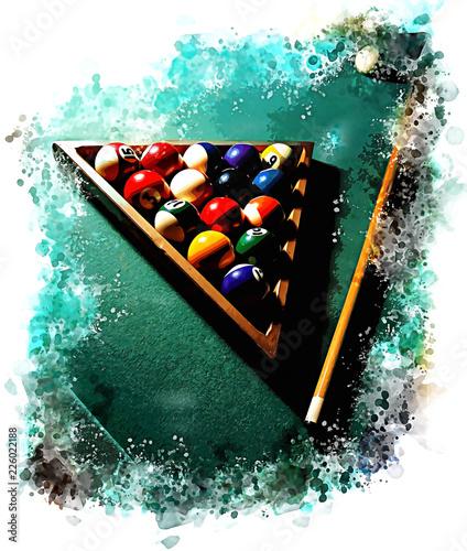 Obraz na plátne Billiard table