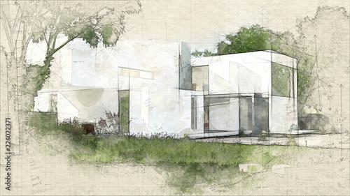 House cube daylight - fototapety na wymiar