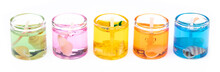 Gel Candle In Glass Isolated O...