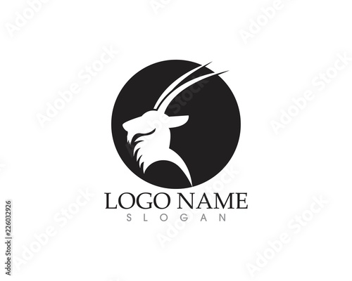 Deer head silhouette logo vector - Buy this stock vector and explore