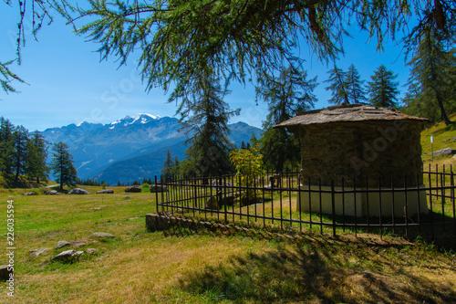 Keuken foto achterwand Zwart landscape in the Swiss Alps in Valais