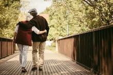 Senior Couple In Warm Clothing...