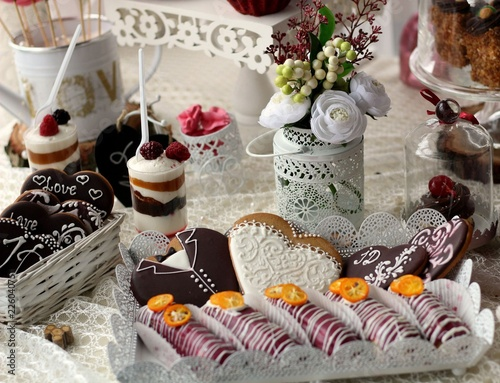 Aluminium Prints candy bar, pastries, cake, tasty, sweets, guests, children, pastry