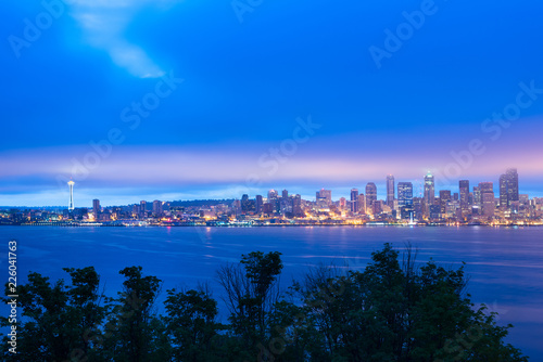 Keuken foto achterwand Verenigde Staten Seattle skyline at dawn, Washington State, USA