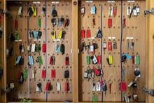 Keys Hanging In A Garage Or Se...
