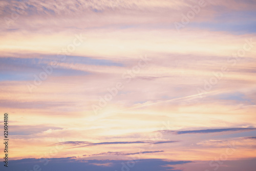 Foto auf Gartenposter Nordlicht 美しい夕焼け空