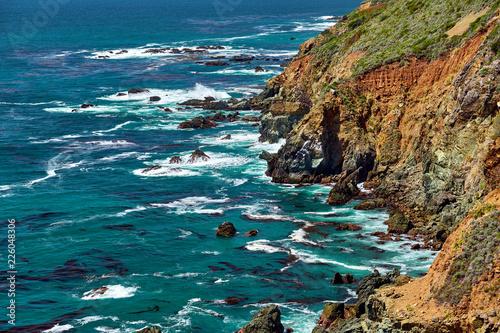 Deurstickers Centraal-Amerika Landen Pacific coast landscape in California