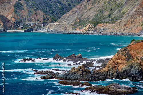 Keuken foto achterwand Verenigde Staten Big Creek Bridge on Highway 1, California