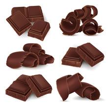 Set Of Broken Chocolate Bars A...