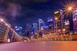 Singapore city skyline at night sky ,cityscape