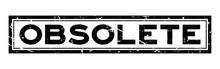 Grunge Black Obsolete Word Squ...