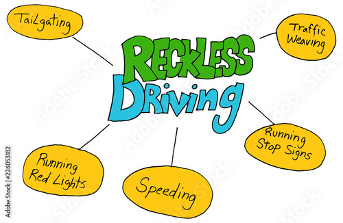 Fotografia, Obraz  Reckless Driving Chart