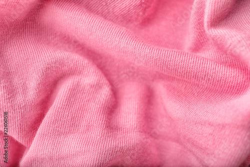 Fotobehang Stof Texture of pink fabric, closeup