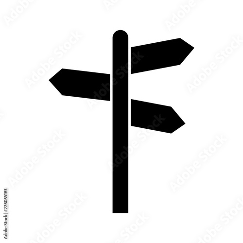 Fotomural Signpost vector icon, Modern flat sign isolated on white background