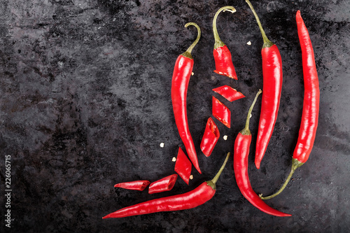 Staande foto Hot chili peppers hot red pepper