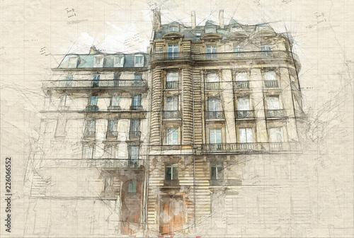 Foto  Parisian building