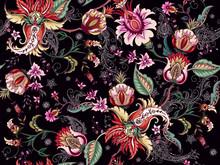 Tropical Fantasy Floral Seaml...