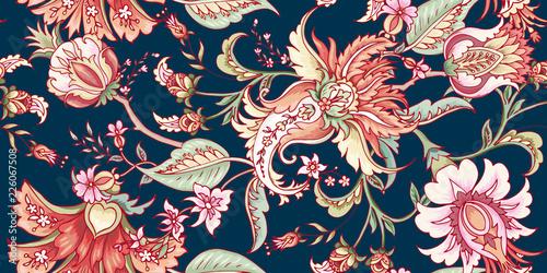 Materiał do szycia  Tropical fantasy floral seamless pattern
