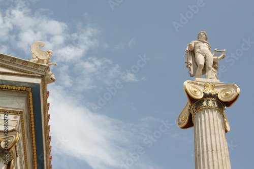 Nineteenth century neoclassical statue of Apollo (god of the