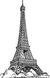 Fototapeta Fototapety z wieżą Eiffla - Eiffel Tower drawing vector