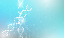 Abstract Science Wallpaper Concept With A DNA Molecules.vector Illustration.